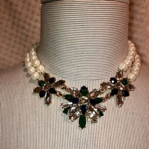 Pear and gem necklace
